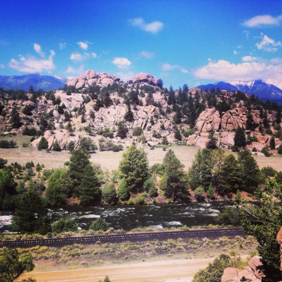(Looking out over the Arkansas River near Buena Vista, CO. This is the standard view while assisting with a rock climbing camp at Turtle Rock.)