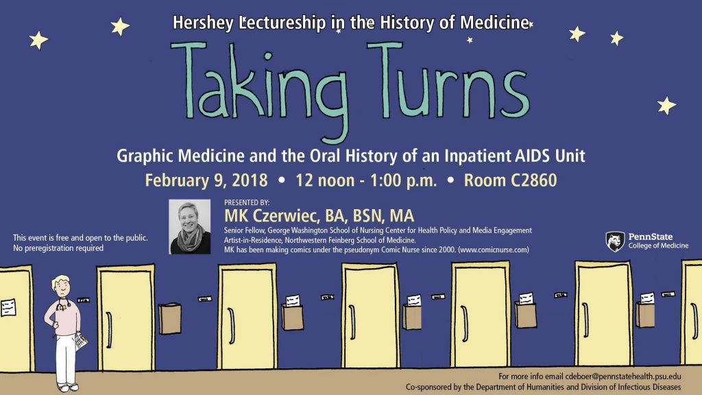 Hershey Lectureshio in the History of Medicine: Taking Turns: Graphic Medicine and the Oral History of an Inpatient AISA Unit
