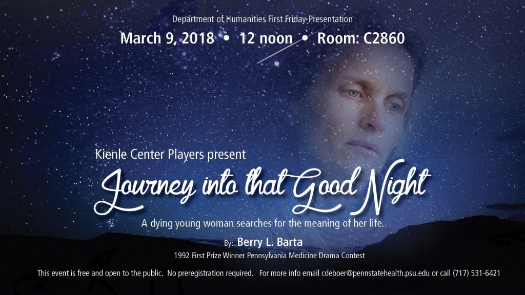 Kienle Center PPlayers present: Journey into that Good Night
