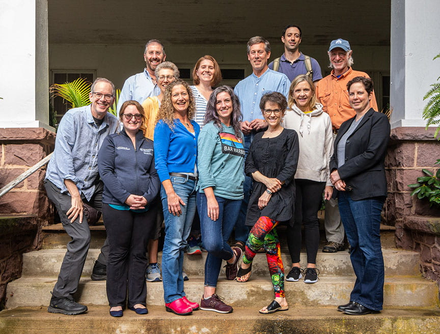 Humanities Faculty and Joint Faculty:  Left to right, Michael J, Green, MD, L.J. VanScoy, MD, Claire de Boer, Carly Smith, Ph.D.,Kimberly Myers, Ph.D., Cheryl Dellasega, Ph.D.,  Back Row: Benjamin Levi, M.D., Bernice Hausman, Ph.D., Rebecca Volpe, Ph.D., Peter Lewis, M.D., Danny George, Ph.D., Dan Wolpaw, M.D.