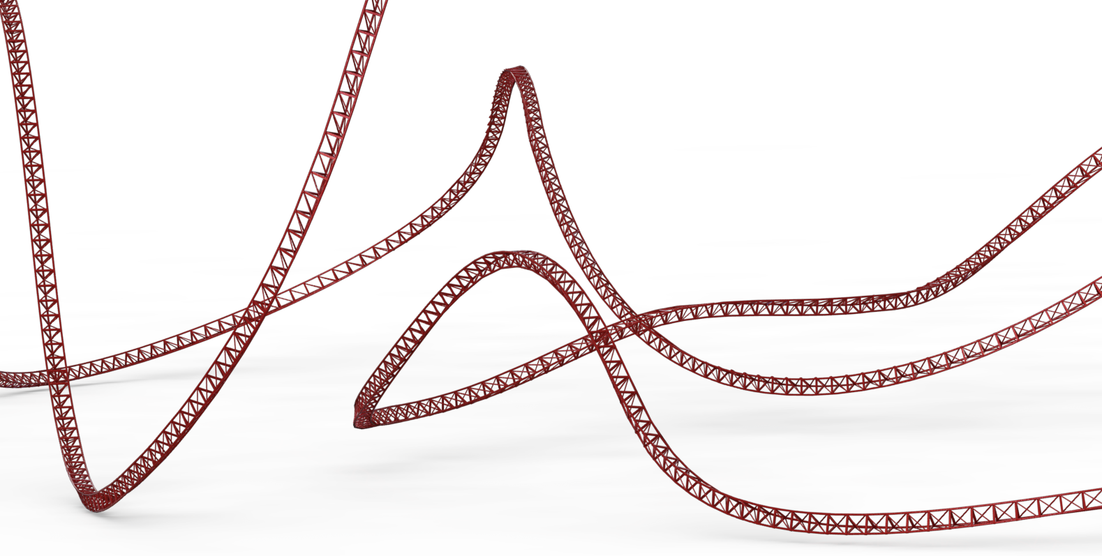 Force-Vector Design: Roller Coaster Centerline Modelling