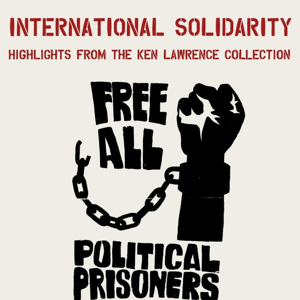 "poster - international solidarity - ""free all political prisoners"""