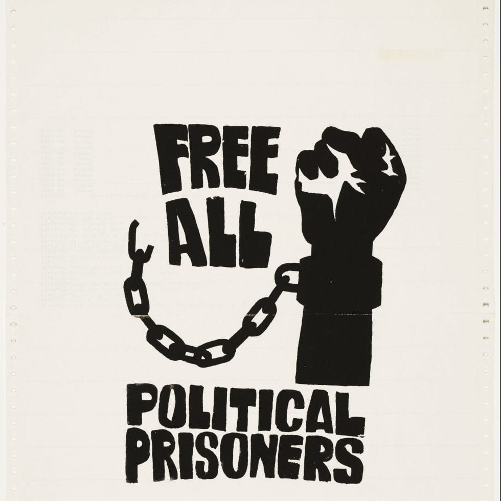 Poster - Free all political prisoners