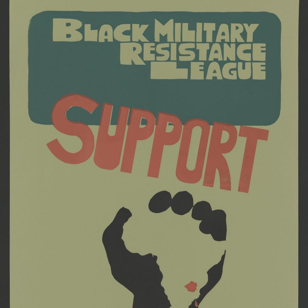 Poster - Black Military Resistance League