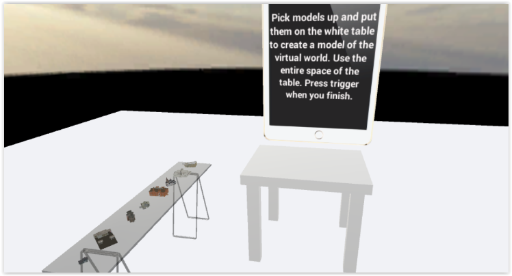 Products improving wayfinding and navigation in immersive virtual figure 2 map arrangement task in the htc vive in this task participants imagine the tabletop as a map they pick up building models and drop them down on gumiabroncs Gallery