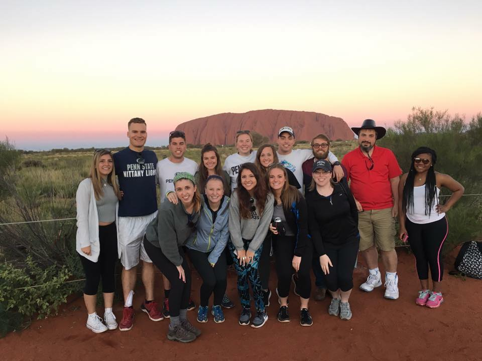 The group's travels took them to cultural and scenic icons across Australia, including Uluru-Kata Tjuta National Park.