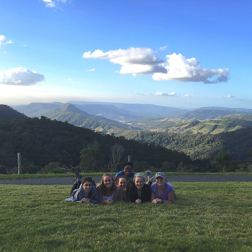 Students take a moment to enjoy the beautiful scenery abundant in Australia.