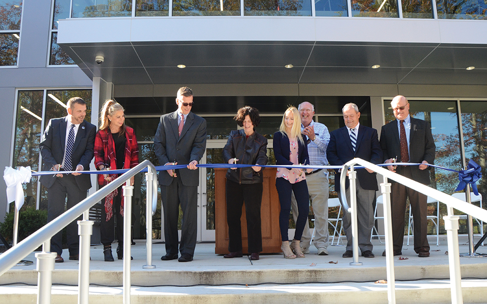 Adler Dedication ribbon-cutting