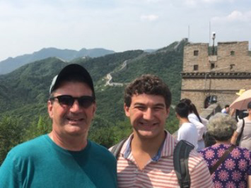 Black with son in China