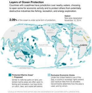 Map of Protected Marine Areas