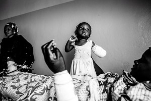 Eight-month-old Afiniki lost her left arm in a Boko Haram attack on the Christian village of Chakawa in Jos, Nigeria, January 26th, 2014.