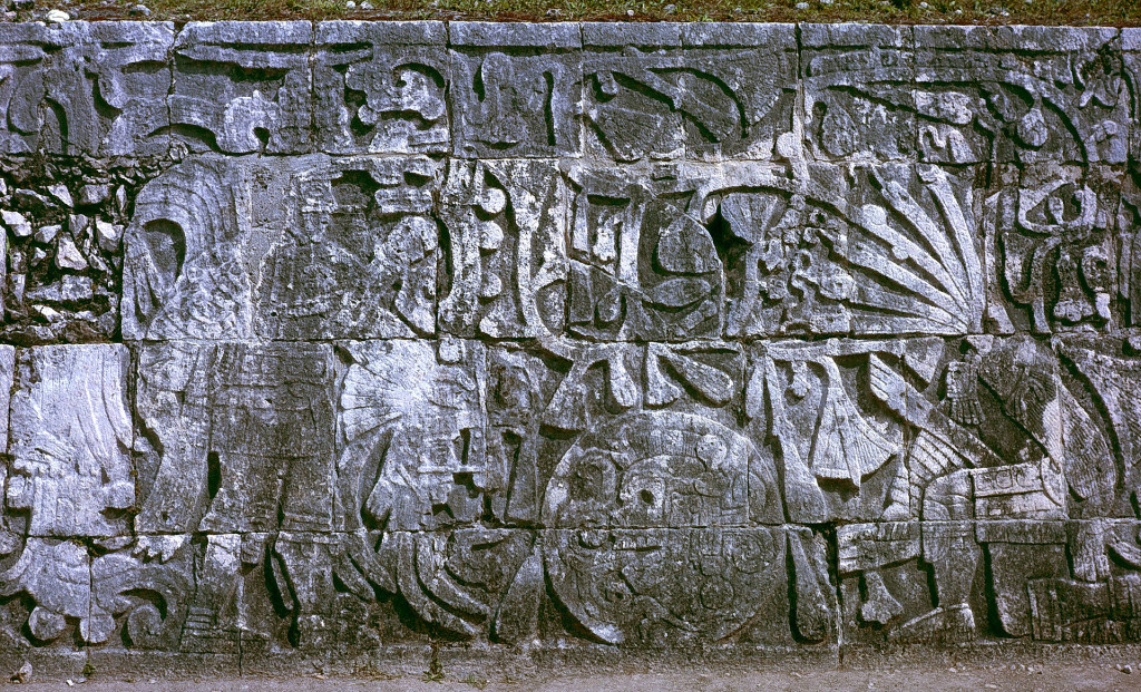 Fig.4: relief from Terminal Classic period Chichen Itza (c. AD 830-950), depicting human sacrifice by decapitation