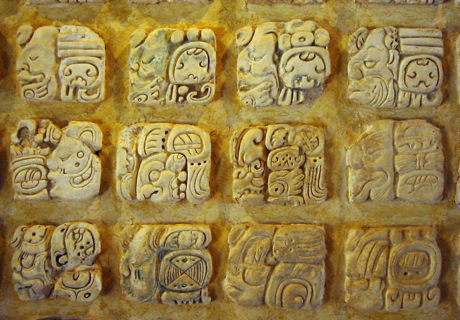 Mayan glyphs - a logographic writing system similar to written Chinese