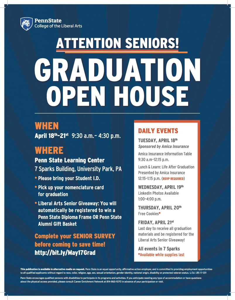 Attention Seniors! Mark Your Calendars for our Graduation Open House ...
