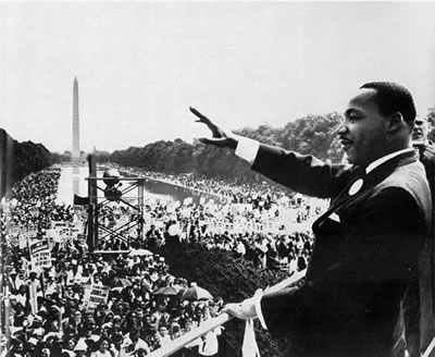 Martin Luther King at the Million Man March on Washington