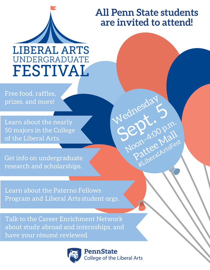 Penn Students invited to attend the annual Liberal Arts
