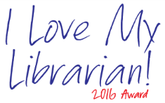 logo for I love my librarian award 2016 contest