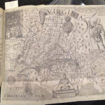 image of a 1632 copy of John Smith's account of his adventure's in the New World