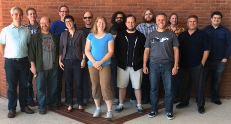 image of group of developers who worked on Hydra coding project in fall 2016