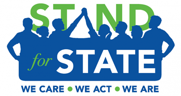 blue and green stand for state illustration
