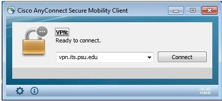 screenshot of VPN connection options