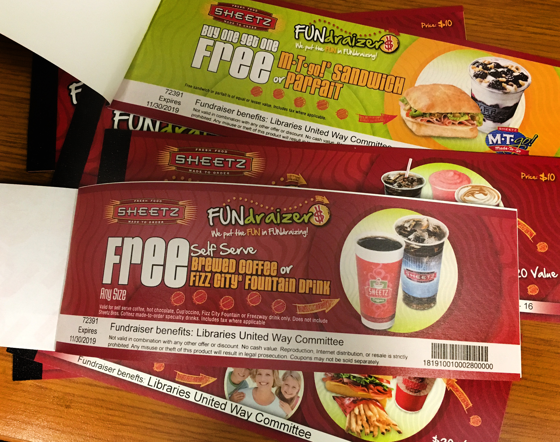 open and closed coupon booklets