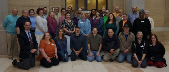 group of people who work for Access Services at Penn State University Libraries