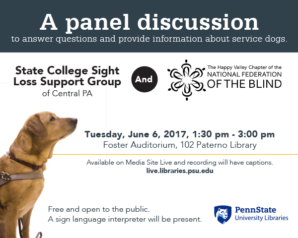 promotional graphic for June 6 sight loss resources panel discussion
