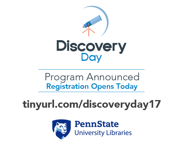 promotional graphic to announce the program and registration opening for Discovery Day 2017