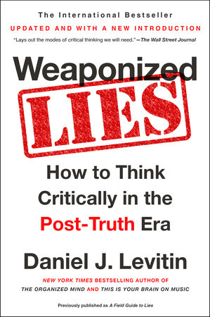 "graphic for book cover of ""Weaponized Lies"""