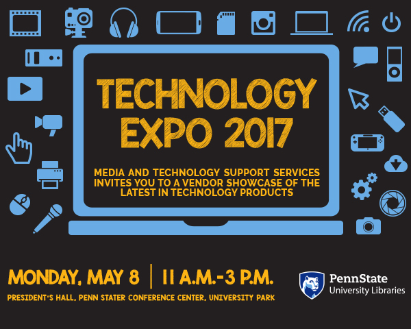 promotional graphic for May 8 Technology Expo