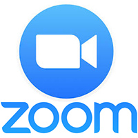 video camera icon in blue circle with word zoom beneath