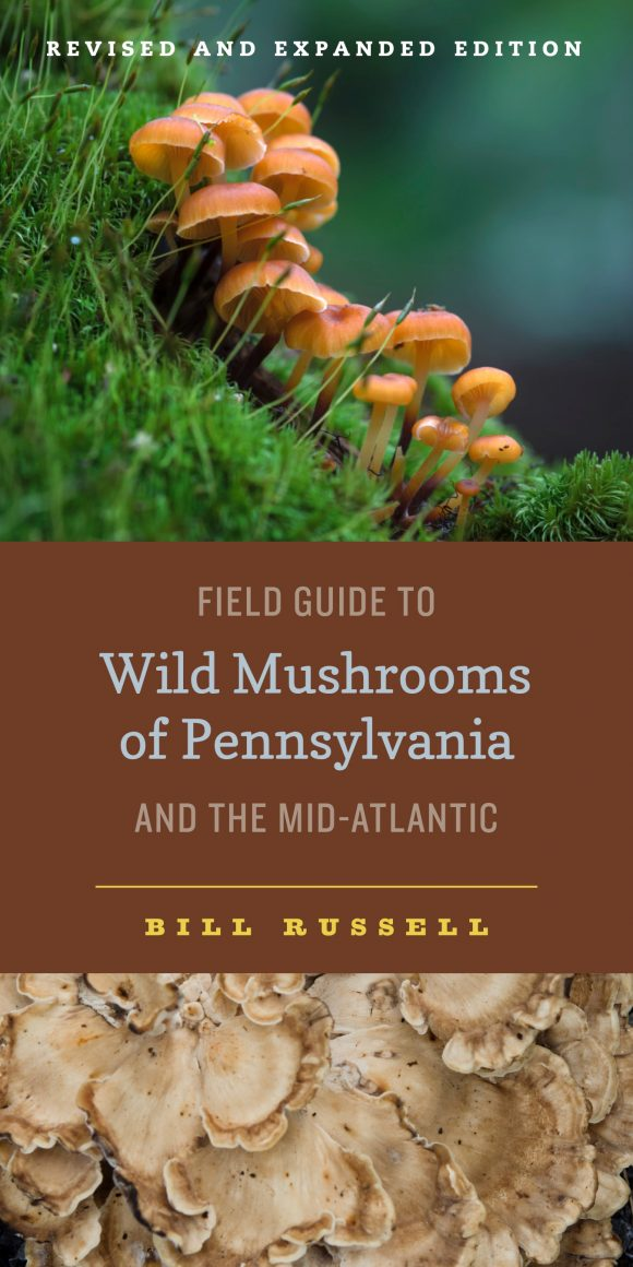 "Cover illustration of:  ""A Field Guide to Wild Mushrooms of Pennsylvania and the Mid-Atlantic"" by Bill Russell"
