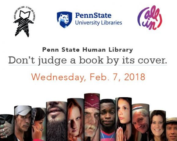 Human Book flyer Wed., Feb. 7, 2018