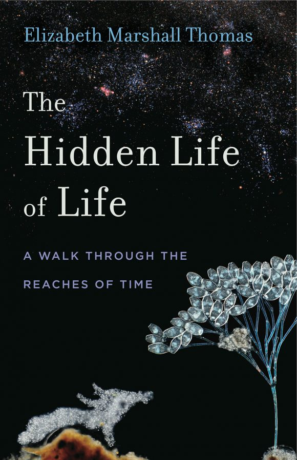 """cover art, """"The Hidden Life of Life; A Walk Through the Reaches of Time"""" by Elizabeth Marshall Thomas"""