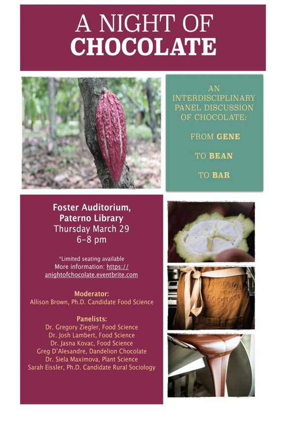A Night of Chocolate, flyer, THursday, March 29, 6-8pm