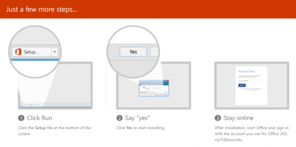 tech tip Office 365 screenshot