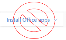"""Install office apps"" Screenshot for tech tip"