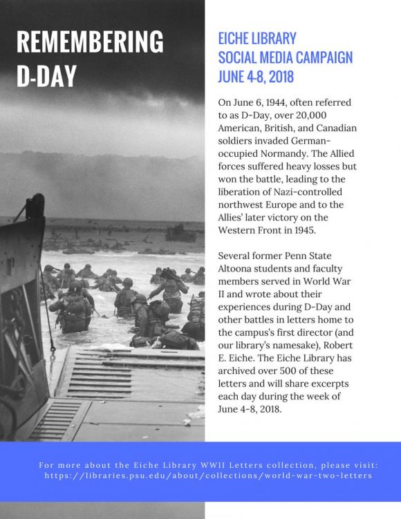 Remembering D-Day Facebook message