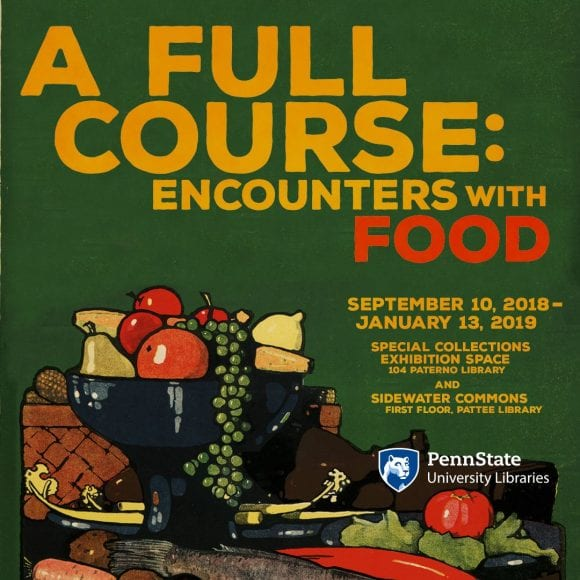 A Full Course: Encounters with Food exhibit flyer