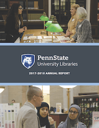 cover page of 2017-2018 University Libraries annual report