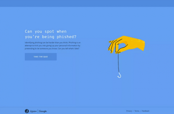 phishing quiz screenshot