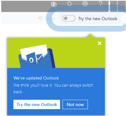 Outlook screen capture for tech tip