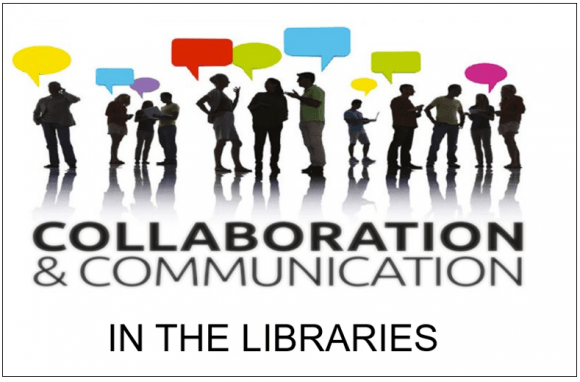 tech tip graphic, collaboration and communications in the Libraries