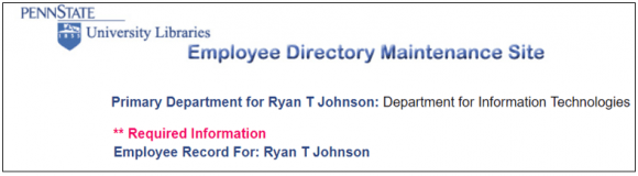 Employee directory screen shot
