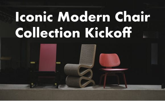 Iconic Modern Chair Collection kickoff flyer