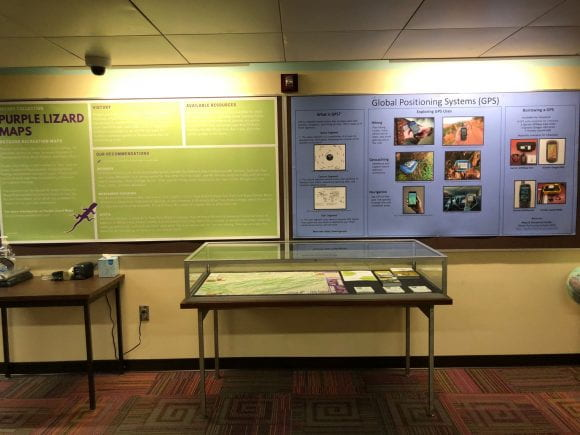 Photo of New display on Purple Lizard Maps and Global Positioning Systems (GPS)