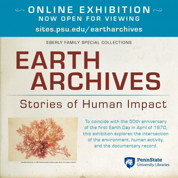 Earth Archives exhibition poster