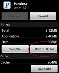 move to sd card screenshot on phone