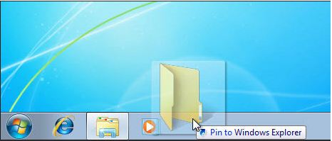 secreenshot of how to pin folders in windows